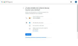 registre su información de contácto a Google maps